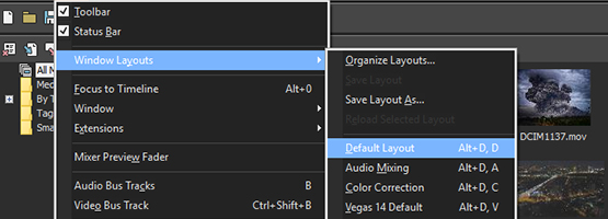 VEGAS Pro 15 - Logical docking window controls
