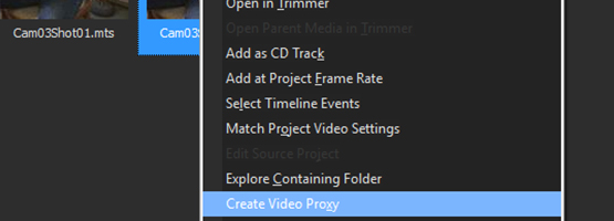 VEGAS Pro 15 - Smart Proxy workflow