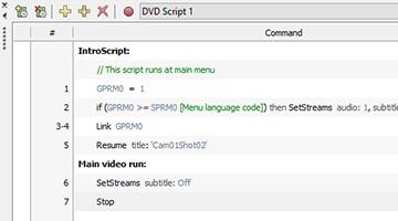 VEGAS Pro 15 - DVD scripting