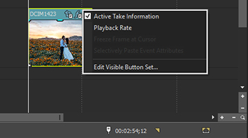 VEGAS Pro 15 - Enhanced Timeline clip events