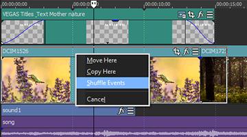 VEGAS Pro 15 - Shuffle Editing