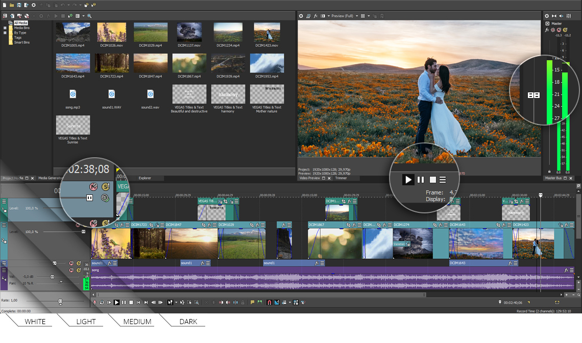 VEGAS Pro 15 - Workflow and UI enhancements